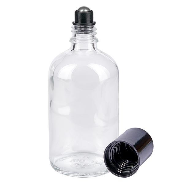 Glas deostick fles helder 100ml, lege deo roller (Roll On)