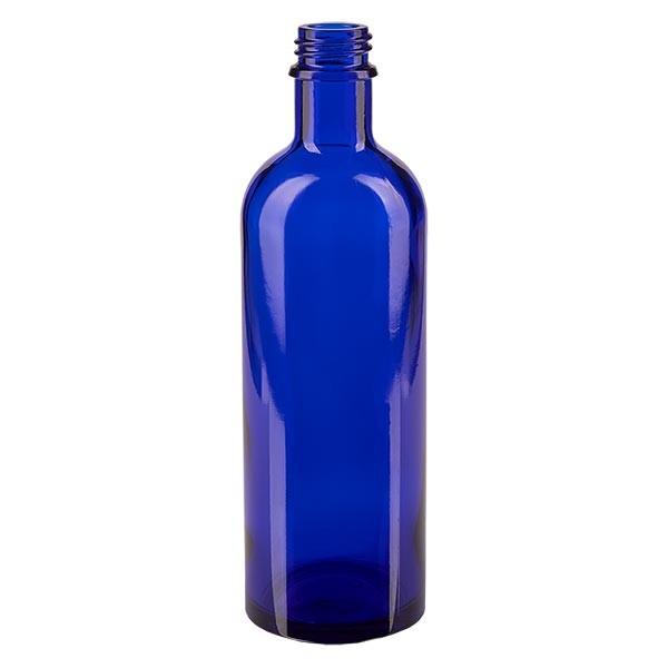 Blauwe glazen fles 200ml