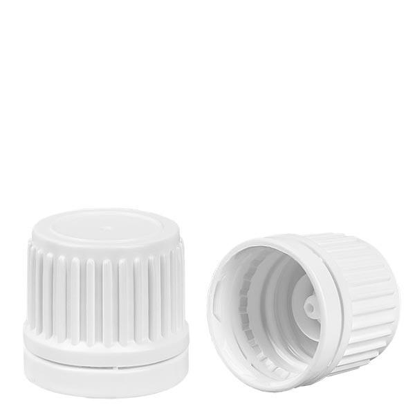 Schroefsluiting wit 18 mm met VR
