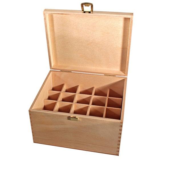 Houten box maat 30 van licht berkenhout voor bachbloesems