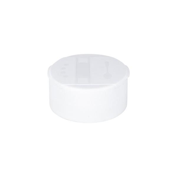 Strooi-schroefsluiting, wit, 4-gaats strooier fijn / grove losopening, 41 mm, standaard