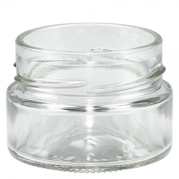 Twist-Off glazen potten lossen onderdelen 80ml ronderand glas