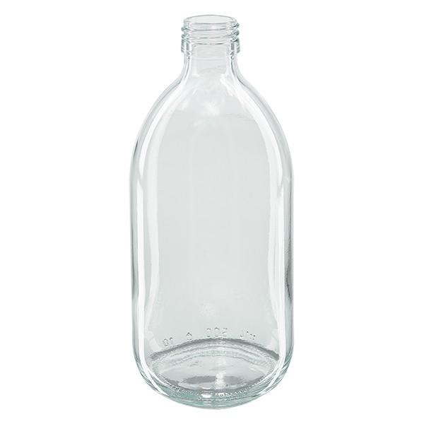 500ml Euro-medicijnfles helder glas