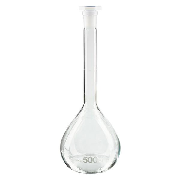 Maatkolven 500ml met slijpstuk 19/26 borosilicaat incl. PEHD stop