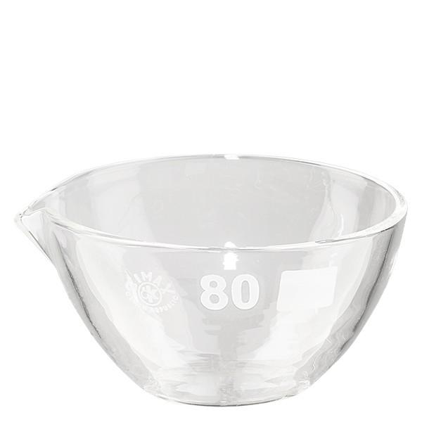 Abdampfschale 90ml Borosilikatglas mit Ausguss