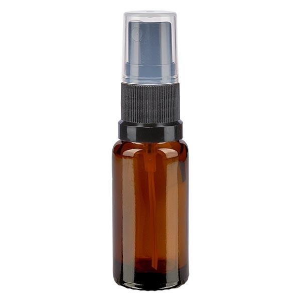 Bruin glazen flessen 10ml met zwart pompverstuiver