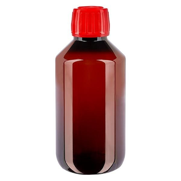 50 ml PET medicijnfles met verstuiver zwart GCMI 28/410 incl. dop transparant, standaard