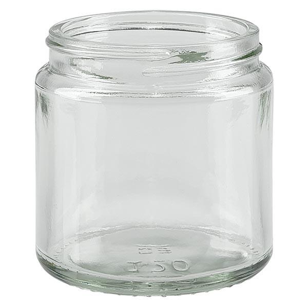 Glazen pot 120ml helder glas 58mm/R3, zonder sluiting