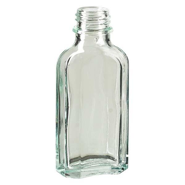 50 ml witte meplatfles met DIN 22 monding