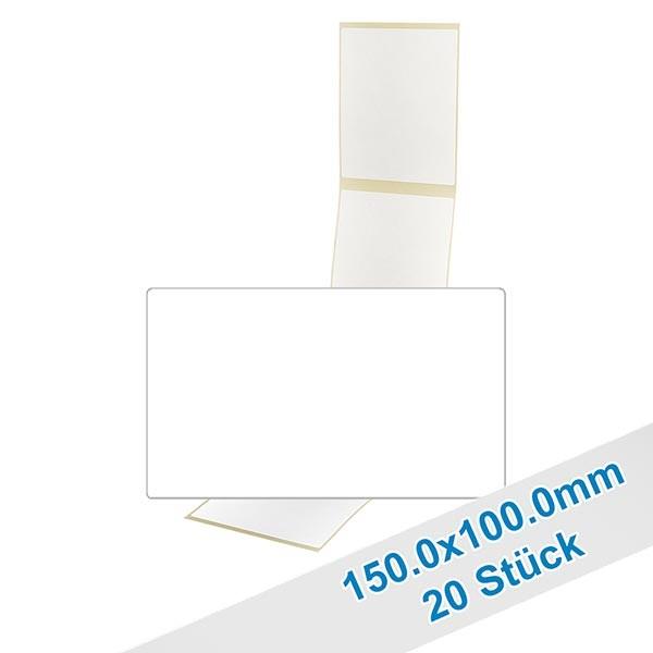 20 etiketten, wit, verwijderbaar 150x100mm