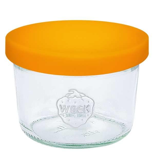 WECK-stortglas 80ml met oranje siliconenhoes
