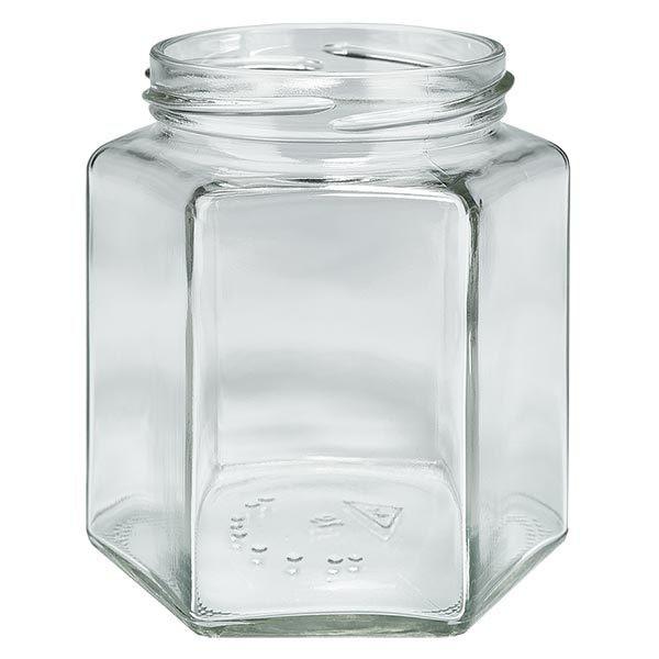 UNITWIST Hexa390 - glazen potten lossen onderdelen 390ml 6-hoekglas TO70