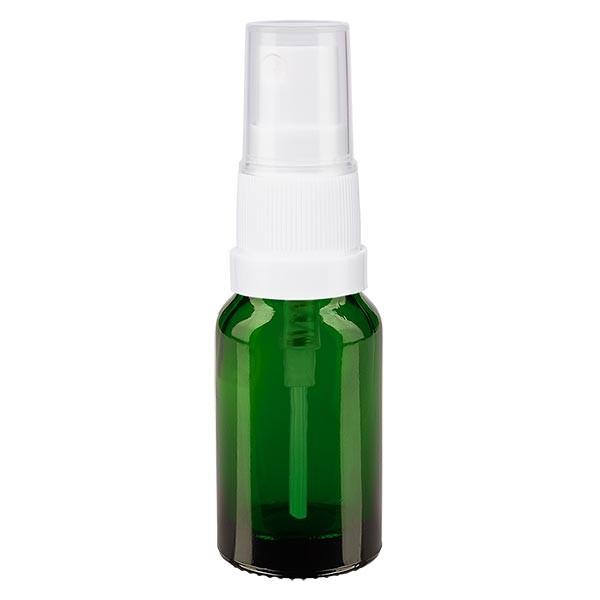 Groenen glazen flessen 10ml met wit pompverstuiver