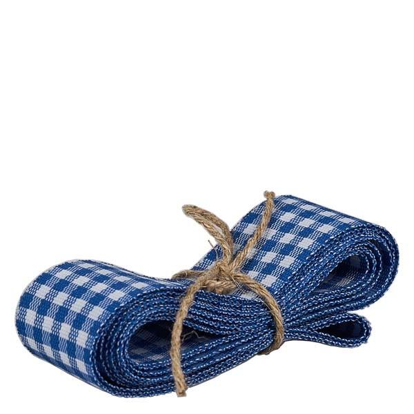Stoffenband blauw/wit 25mm breed - 3m lang - voor het decoreren van glazen