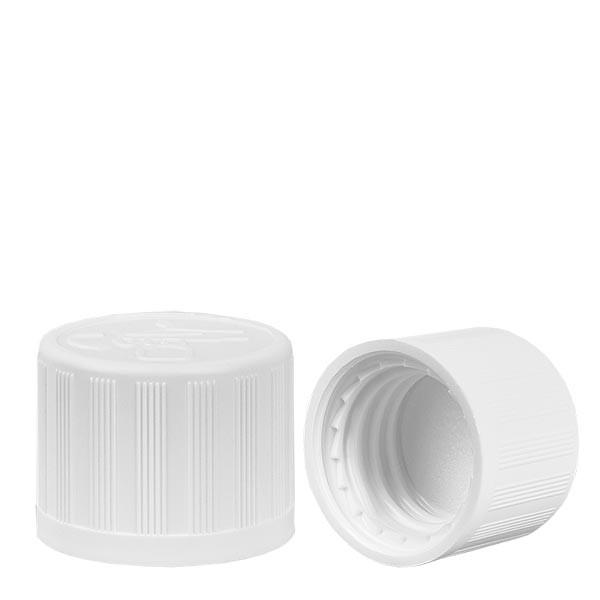 Schroefsluiting wit 18 mm kinderslot standaard