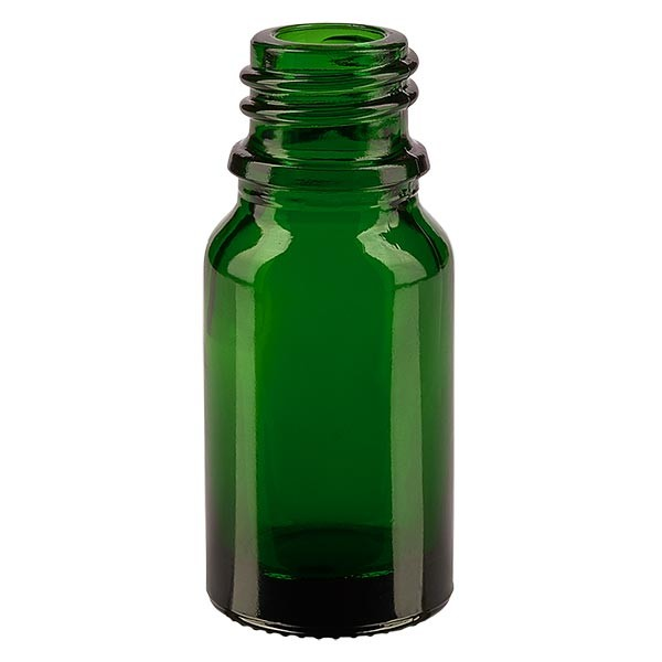 Groene glazen fles 10ml