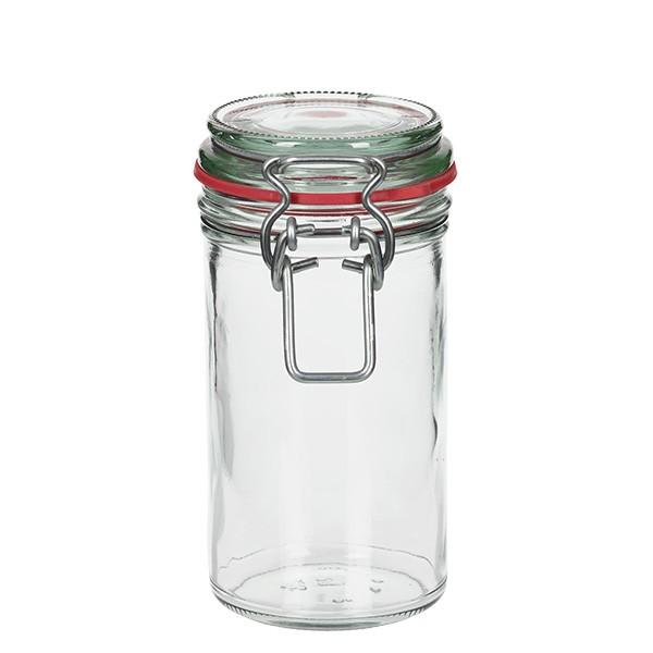 272 ml glas met draadbeugel / spanbeugelglas rond, geschikt voor pasteurisatie