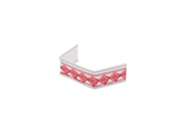 100 x U-Clip van papier, lengte 40, rood/wit