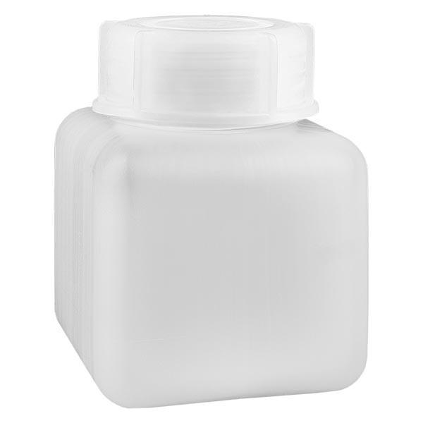 Chemicaliënfles 500 ml, wijde hals, incl. sluiting GL 65