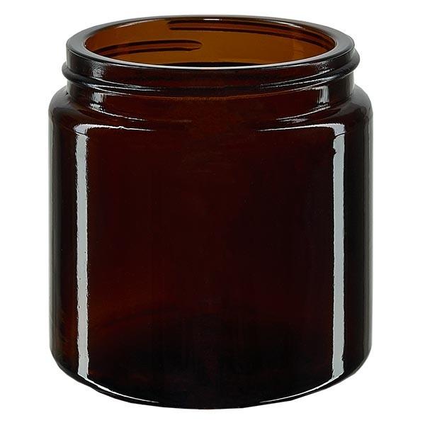 Glazen pot 120ml bruin glas 58mm/R3, zonder sluiting