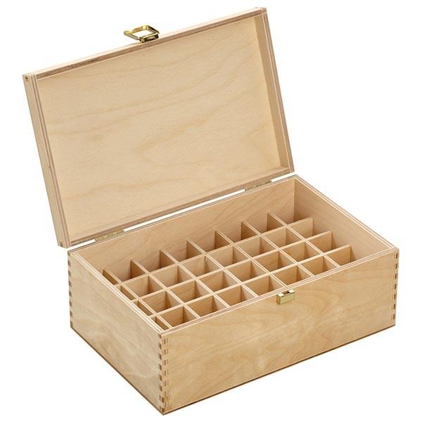 Bachbloesem / globuli houten box maat 10 van licht berkenhout voor 40 flessen