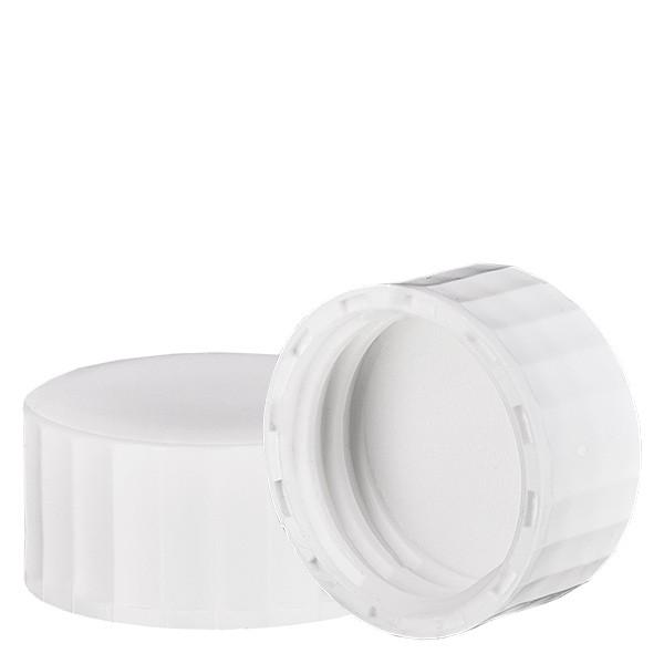 Schroefsluiting wit met PE inzet, S27x3