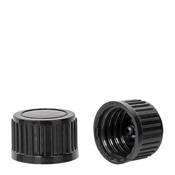 Schroefsluiting zwart 18 mm standaard