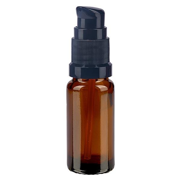 Bruine glazen flessen 10ml met zwart pompsluiting