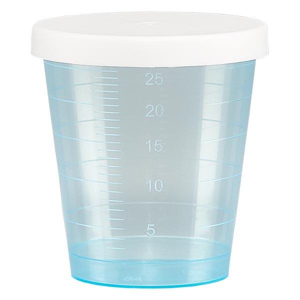Medicijnbeker 30ml incl. klikdeksel (geneesmiddelenbeker/jeneverbeker) kleur: blauw