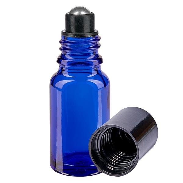 Glas deostick fles blauw 10ml, lege deo roller (Roll On)