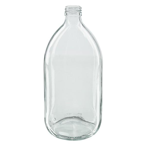 1000ml Euro-medicijnfles helder glas