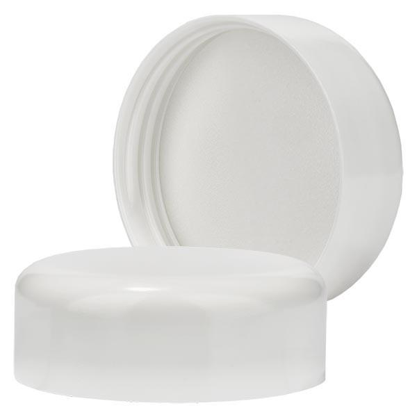 Schroefdop wit voor blauwe glazen pot 50ml