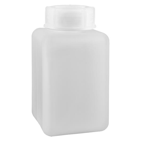 Chemicaliënfles 1000 ml, wijde hals, incl. sluiting GL 65