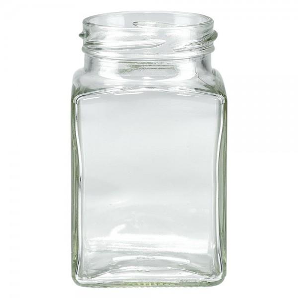 Twist-Off glazen potten lossen onderdelen 260ml 4-hoekglas