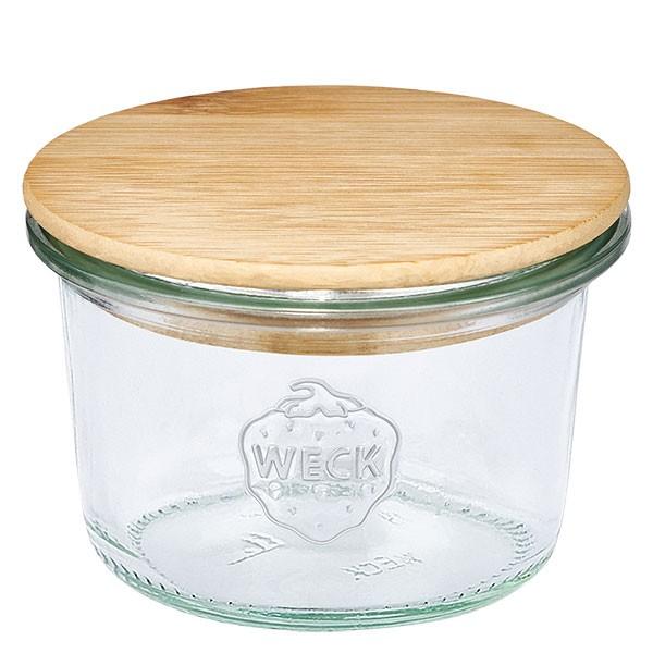 WECK-mini stortglas 80ml met hout deksel