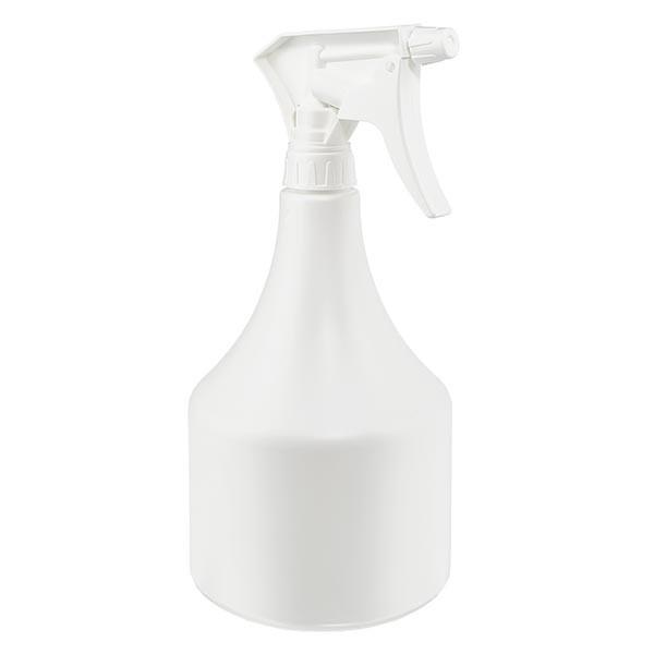 Sprayfles kegelvorm PP, 1000 inclusief handsproeier