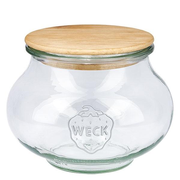 WECK-sierglas 1062ml met hout deksel