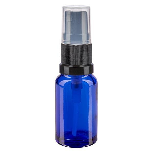 Blauwe glazen flessen 10ml met zwart pompverstuiver