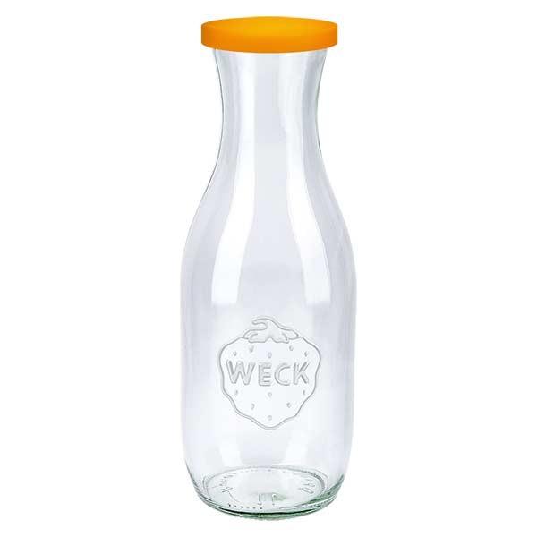 WECK-sapfles 1062ml met oranje siliconenhoes