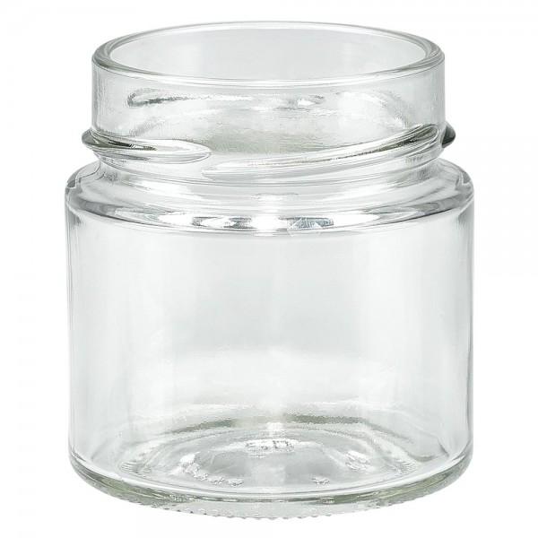 Twist-Off glazen potten lossen onderdelen 135ml ronderand glas