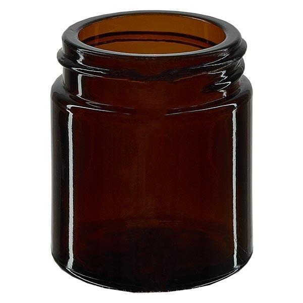 Glazen pot 30ml bruin glas 38mm/R3, zonder sluiting
