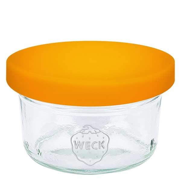WECK-mini stortglas 50ml met oranje siliconenhoes