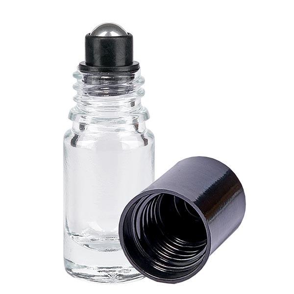 Glas deostick fles helder 5ml, lege deo roller (Roll On)