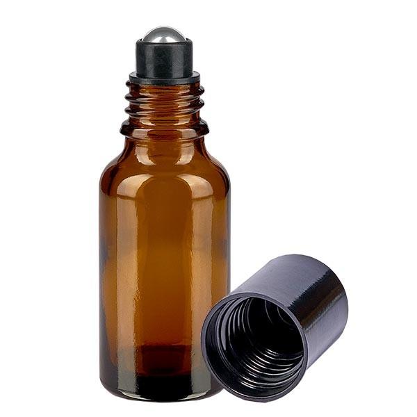 Glas deostick fles bruin 20ml, lege deo roller (Roll On)