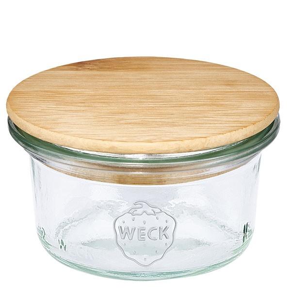 WECK-mini stortglas 50ml met hout deksel