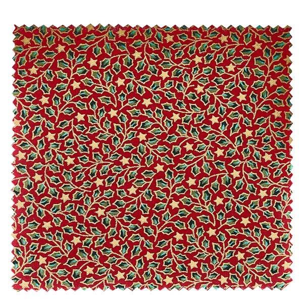 1 x stoffen lapje 150x150mm rode hulst voor deksel diameter 43-100mm