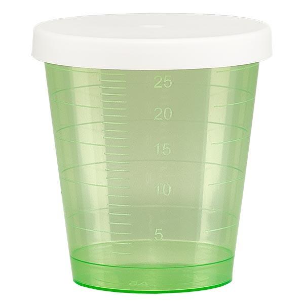 Medicijnbeker 30ml incl. klikdeksel (geneesmiddelenbeker/jeneverbeker) kleur: groen