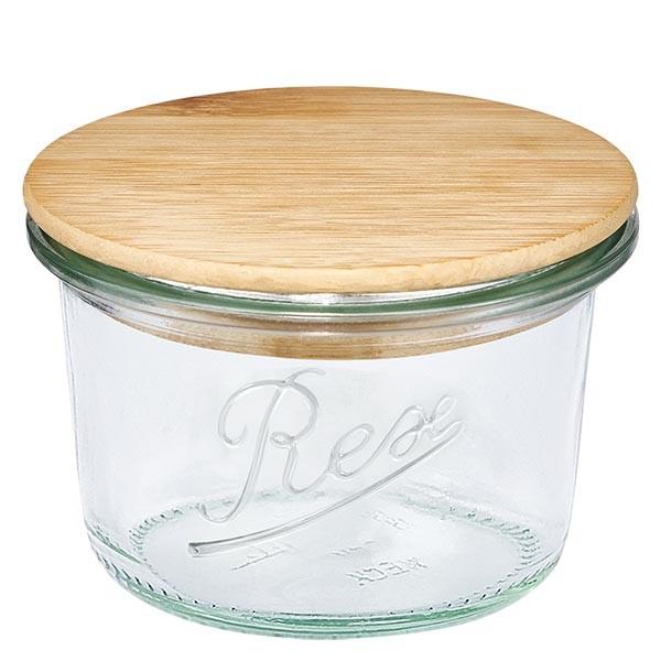 REX-mini stortglas 80ml met hout deksel