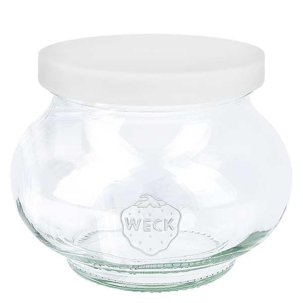 WECK-sierglas 220ml met wit siliconenhoes