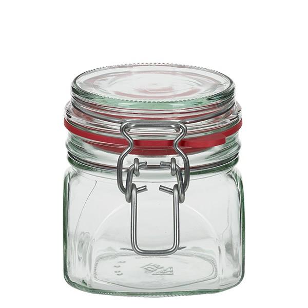 370 ml glas met draadbeugel / spanbeugelglas rond, geschikt voor pasteurisatie